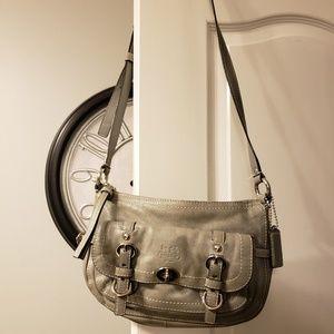 Coach gray crossbody # M1969-Z17195, leatherware